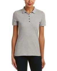 b5ef1badd Burberry - Check Trim Stretch Cotton Pique Polo Shirt - Lyst