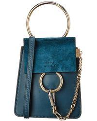 dfc4ead7 Faye Small Leather & Suede Bracelet Bag