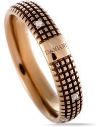 Damiani 18k Rose Gold & Rhodium Diamond Ring - Metallic
