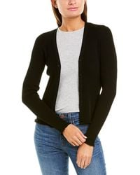 Vince Ribbed Cardigan - Black