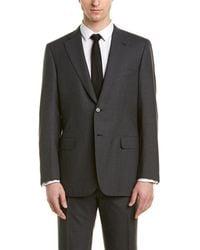 Brioni 2pc Wool Suit With Flat Front Pant - Multicolour