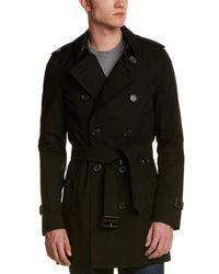 Burberry Sandringham Mid Length Heritage Trench Coat - Black