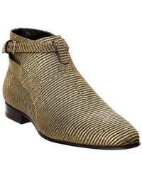 Saint Laurent Men's Leather Boot - Multicolor