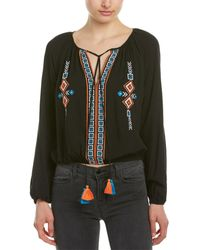 Re:named Re:named Embroidered Top - Black