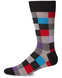 Bugatchi Classic Multi-colored Socks - Black