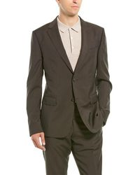 Z Zegna Z Zenga 2pc Wool Suit With Flat Pant - Brown