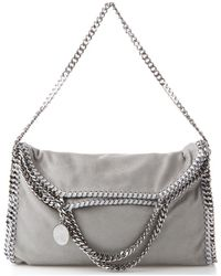 Stella McCartney Falabella Fold-over Tote - Gray