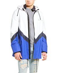 Valentino Colorblock Rain Coat - White
