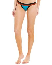 MILLY Colorblocked Bikini Bottom - Blue