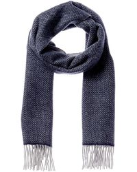 Forte Double Faced Herringbone Cashmere Scarf - Grey