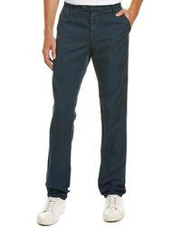 AG Jeans Slim Linen-blend Trouser - Blue
