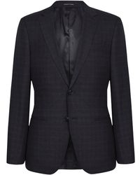 Reiss Wool Blend Slim Fit Blazer - Blue