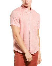 Billy Reid Tuscumbia Regular Fit Linen Shirt - Red