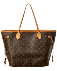 Louis Vuitton Monogram Canvas Neverfull Mm - Brown