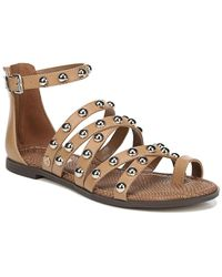 Circus by Sam Edelman Carla Studded Cage Sandals - Brown