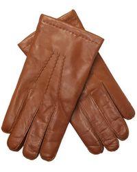 Portolano - Nappa Leather Keyhole Gloves - Lyst