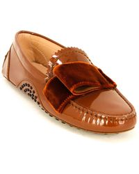 Tod's Tod?s Gommino Leather Moccasin - Brown