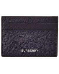 Burberry Grainy Leather Card Case - Blue