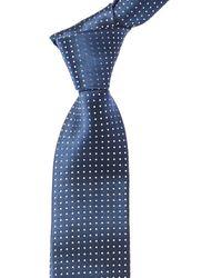 Canali Teal Dots Silk Tie - Blue