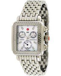 Michele Stainless Steel Diamond Watch - Metallic