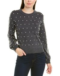 MILLY - Pearl Wool Sweater - Lyst