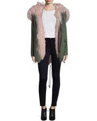 Rebecca Minkoff Brianna Parka Coat - Multicolor