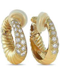 Van Cleef & Arpels Vintage Van Cleef & Arpels 18k 1.00 Ct. Tw. Diamond Clip-on Earrings - Metallic