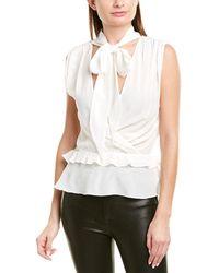 Pinko Amedeo Silk Top - White