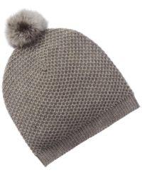 Phenix Cashmere Honeycomb Hat - Gray