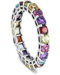 Samuel B. Jewelry 3.35 Ct. Tw. Silver Gemstone Eternity Ring - Metallic