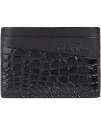Saks Fifth Avenue Alligator Card Holder - Black