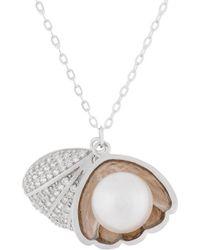 Splendid Silver Freshwater Pearl Pendant - Metallic