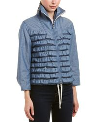 Moncler Frill Zipped Jacket - Blue