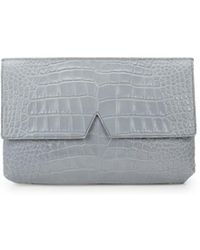 Vince Embossed Leather Clutch - Black