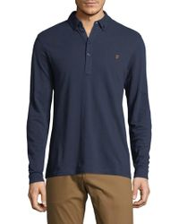 Farah | Merriweather Cotton Polo | Lyst