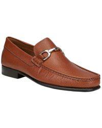 Donald J Pliner Darrin Leather Loafer - Brown