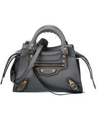 Balenciaga Neo Classic Mini Leather Shoulder Bag - Multicolor