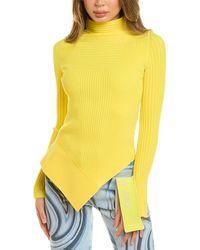 Off-White c/o Virgil Abloh - Off-white? Asymmetric Sweater - Lyst