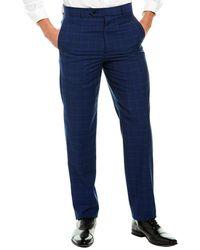 Brooks Brothers Regent Fit Wool Pant - Blue