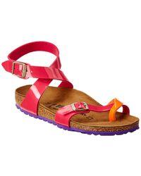 Birkenstock Yara Birko-flor Patent Sandal - Pink