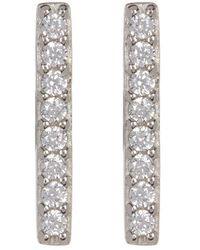 Adornia Silver Crystal Studs - Metallic