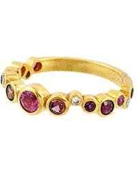 Gurhan Pointelle 22k 1.31 Ct. Tw. Diamond & Gemstone Ring - Metallic