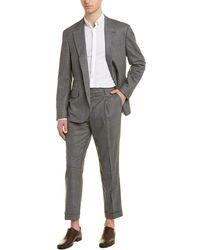 Brunello Cucinelli Wool-blend 2pc Suit - Gray