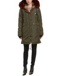 Nicole Benisti Brera Leather-trim Down Coat - Multicolour