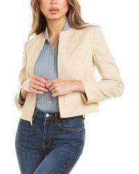 Theory Jean Linen-blend Moto Jacket - Brown