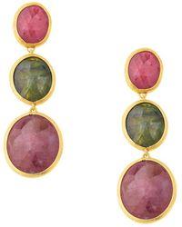 Marco Bicego Siviglia 18k Sapphire Drop Earrings - Multicolour