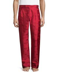 La Perla Silk Pyjama Trousers - Red