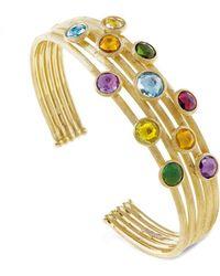 Marco Bicego Jaipur Colour 18k Gemstone Cuff - Metallic
