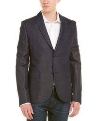 Gucci Linen-blend Suit Jacket - Blue