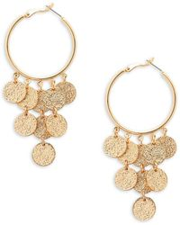Panacea - Disk Hoop Earrings - Lyst